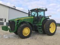 2009 JD 8330, MFWD, 1560 hrs., PS Trans, 3 hyd., 1000 pto, autotrac ready, quick hitch, 480/80R46 w/duals, 420/90R30 front tires, S/N RW8330P046657