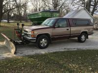 1995 Chevy Siverado Pick Up Truck Z71, 4x4, regular cab, long box, 134,231 miles, w/Western snow plow, 7.5'