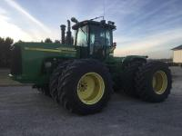2006 JD 9220 4WD, 3766 hrs., 18 sp power shift, 4 hyd., auto steer ready, 710/70R38 W/duals, bare back, S/N: RW9220P042953