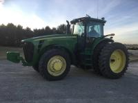 2007 JD 8330 MFWD, 4024 hrs., power shift, 4 hyd., 60 GPM hyd. pump, auto steer ready, 1000 pto, rear wheel weights, 480/80R46 w/duals, 380/85R34 front tires, S/N: RW8330PO15027, One Owner
