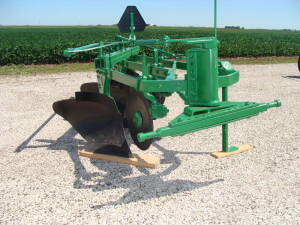 "JD AO 145 semi mount plow, 3-16"""", good condition"