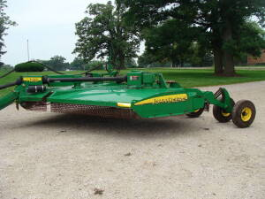 JD HX15 batwing mower 15', stump jumper, 6 wheel, solid wheel (1 Owner)