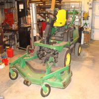 "2004 JD 1445, front mount mower, diesel, 31 hp., 2 WD, 72"" deck"
