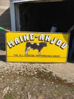 Maine-Anjou 4'x8' metal sign