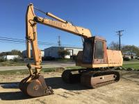 "1988 Case 880D Crawler Excavator, 3873 hrs., 30"" wide steel tracks, cab w/heat, turntable leveler,"