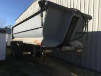 1995 Hilbilt frameless End Dump Trailer, 21' steel, air gate, 11R22.5 tires