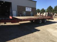 1984 Dynaweld Big D 20', 18 ton Tag Trailer w/beaver tail & ramps, One Owner